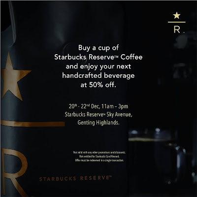 Starbucks Reserve Store Sky Avenue Genting Highlands Opening Discount Promo