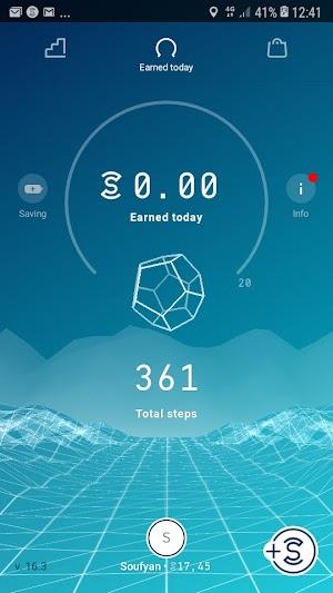 تطبيق Sweatcoin لربح المال من الانترنت