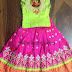 Pink and Neon Green Lehenga