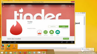 Tinder installation through Bluestack