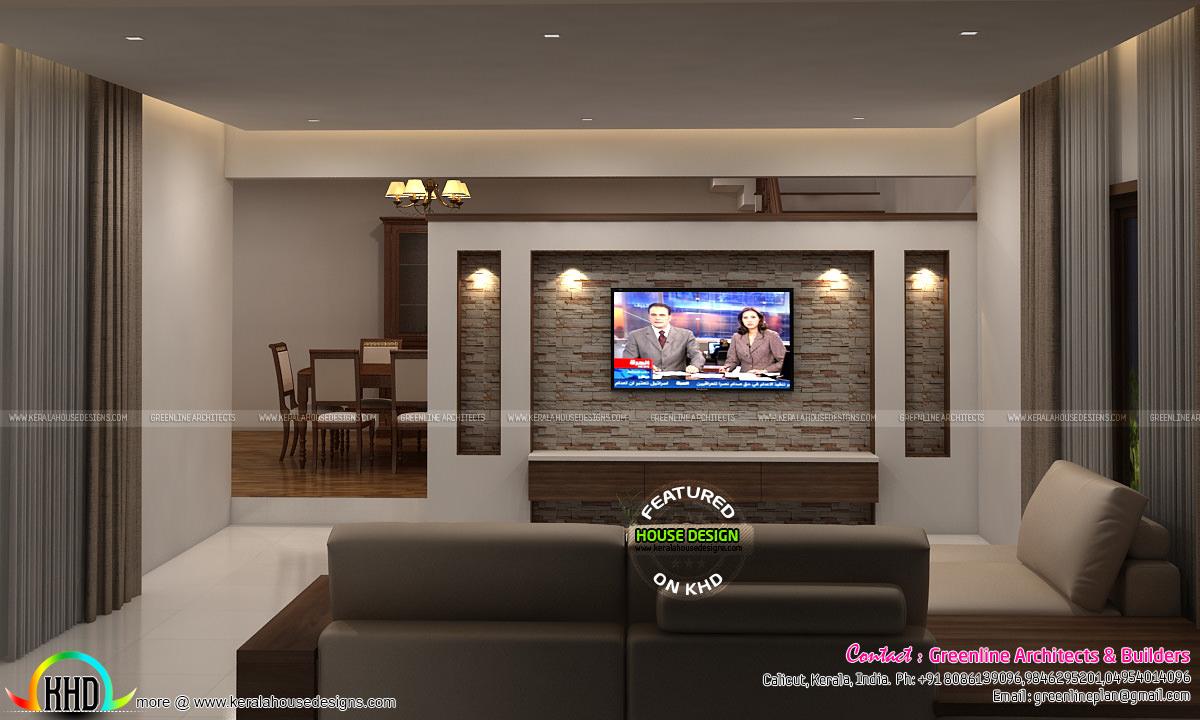Living room and Master bedroom interior designs - Kerala ...