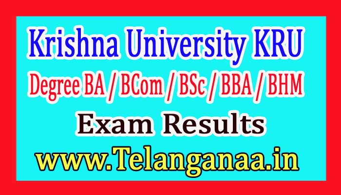 Krishna University (KRU) UG 1st Sem Regular Results 2017