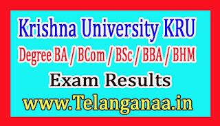 Krishna University (KRU) UG 1st Sem Regular Results 2018