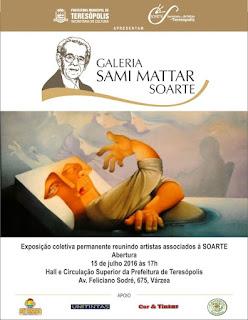 Teresópolis se prepara para a Inauguração Galeria SOARTE Artista Sami Mattar