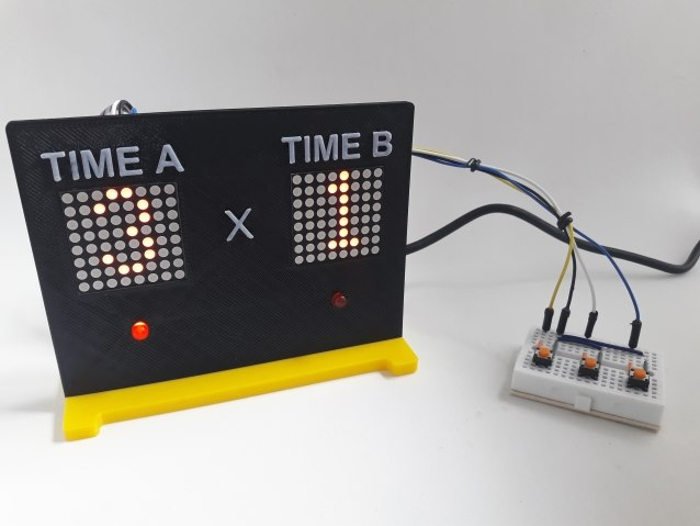 Placar eletrônico com Arduino e Max7219