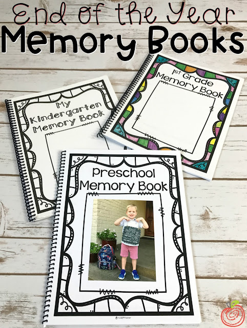 End of the Year Memory Books and keepsakes for Kindergarten