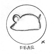 Fear Icon Drawing