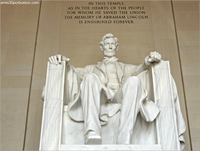 Escultura del Presidente Abraham Lincoln en Washington D.C