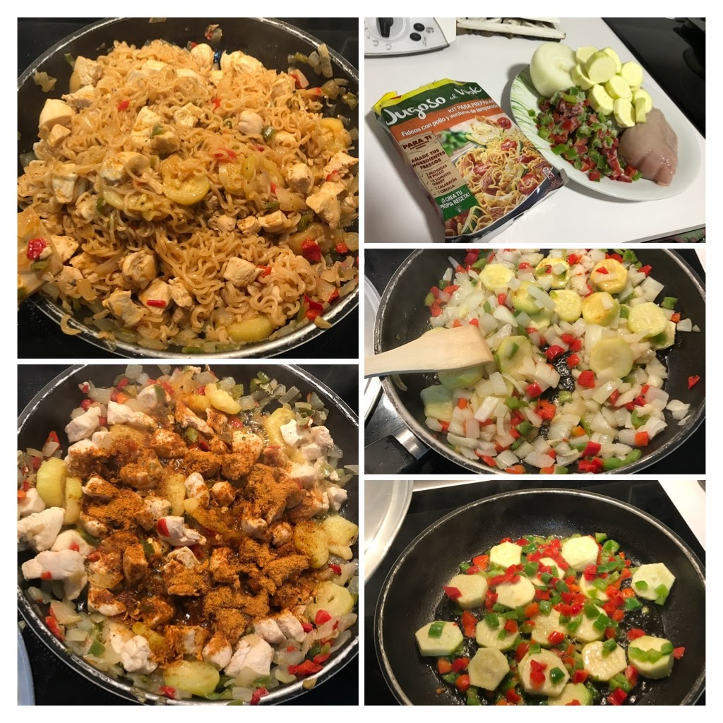 Carlota y mam probamos maggi jugoso al wok con wommus for Cocinar wok en casa