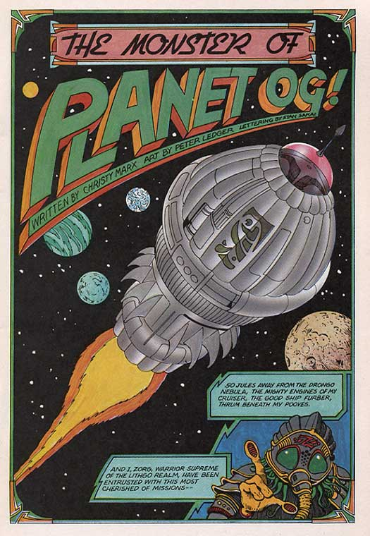Writer Christy Marx And Artist Peter Ledger Handle This Never Reprinted Story From Eclipses Alien Encounters 2 1985 Like Its A 1940s Comic Written By