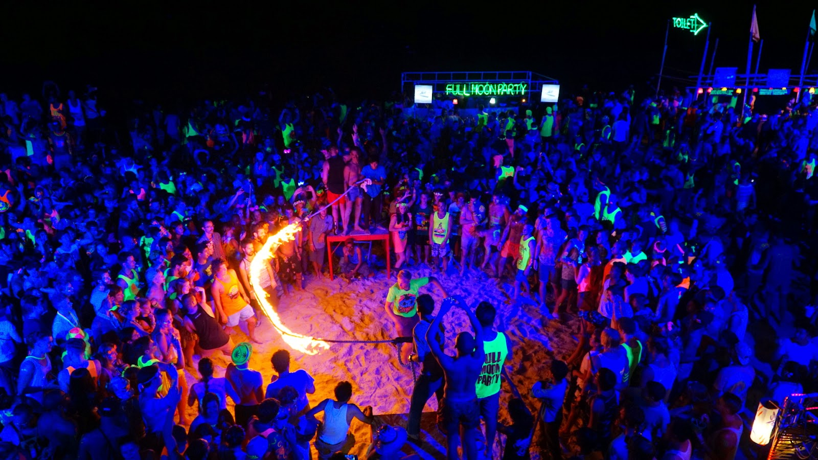 Full Moon Party over Koh Phangan