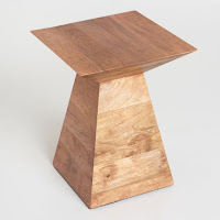 stylish wood accent table