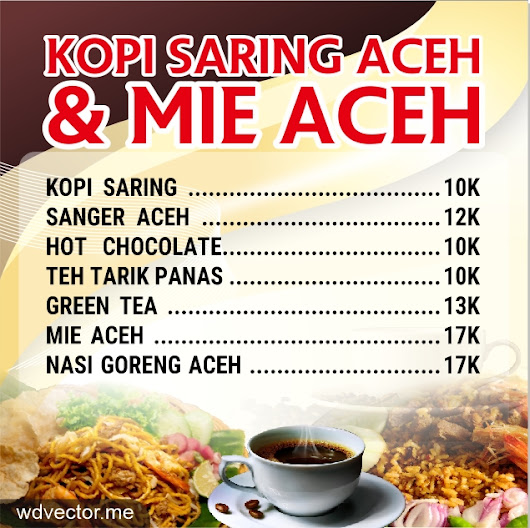 Banner Design Aceh Coffee - Free Vector