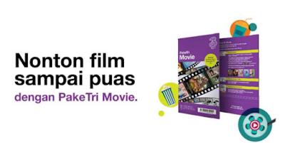 Cara Menggunakan Kuota Movie Tri 3