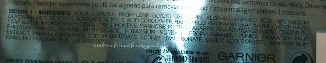 mascarilla hidratante revitalizante garnier