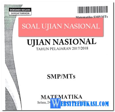 Soal UN Matematika SMP/MTs Tahun 2019