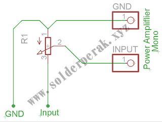 skematik, rangkaian, rangkaian penambah volume, cara menambah volume pada amplifier,