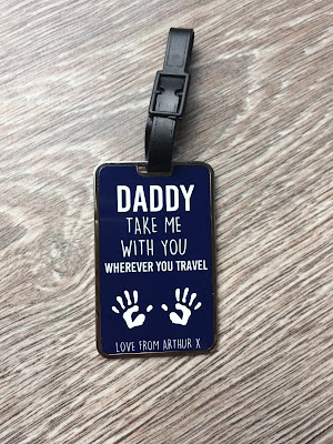Father's Day 2017 gift guide personalised luggage tag