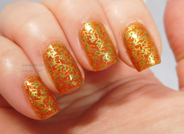 Literary Lacquers More Like Fire Than Light + It Girl Nail Art fashion plate IG111