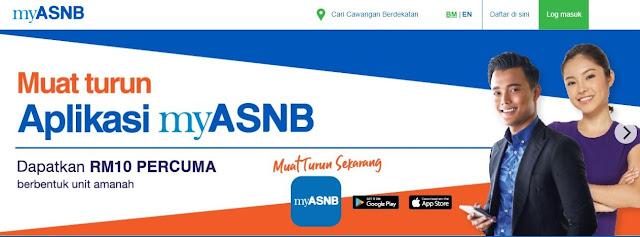 Dapatkan RM10 Unit Amanah Dengan Hanya Download Aplikasi MyASNB, asnb, apps asnb, applikasi asnb, semak baki akaun asb dengan mudah, kempen asnb 2019, install applikasi asnb,