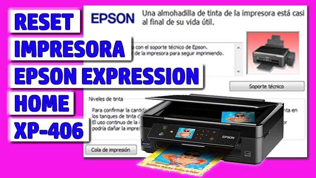 Reset impresora EPSON Expression Home XP-406