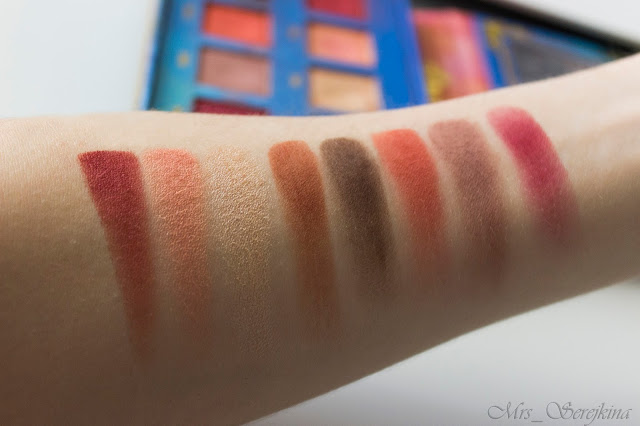 Venus the Grunge Eyeshadow Palette Lime Crime: swatches