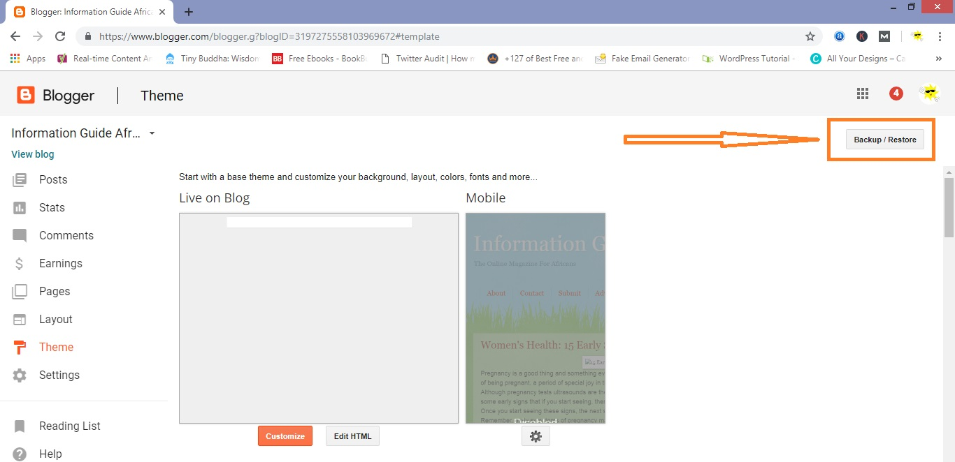 How To Change Your Template In Blogspot