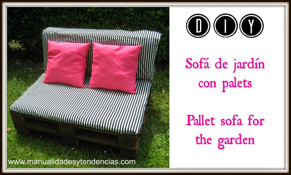 diy pallet sofa for the garden