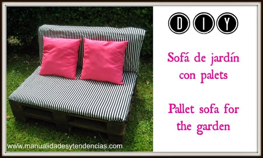 diy pallet sofa for the garden