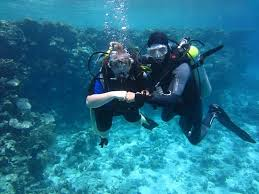 Scuba diving and water sports :