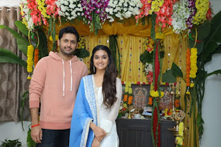 Keerthy Suresh with Nithin New Movie Launch with Venky Atluri 2