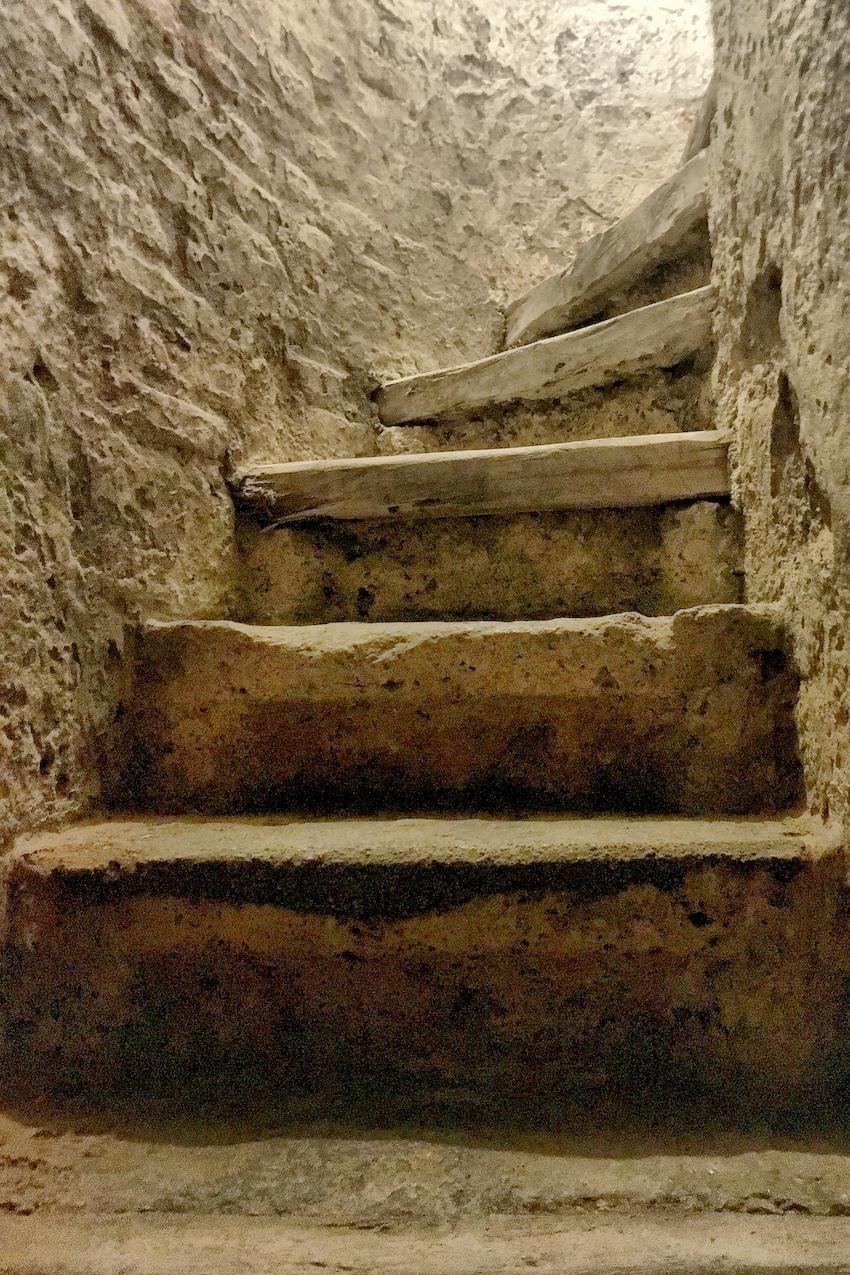 Treppenaufgang Bergfried Burghausen