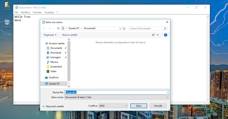Come creare ad hoc un carico della CPU al 100% in Windows 10 HTNovo 2