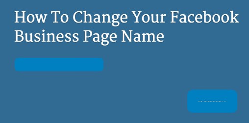 how to change business name on facebook page