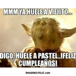 Feliz Cumpleaños Graciosas Chistosas meme yoda memes gratis divertidos
