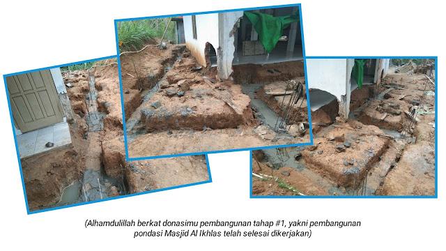 Pembangunan Masjid Al Ikhlas Pacitan