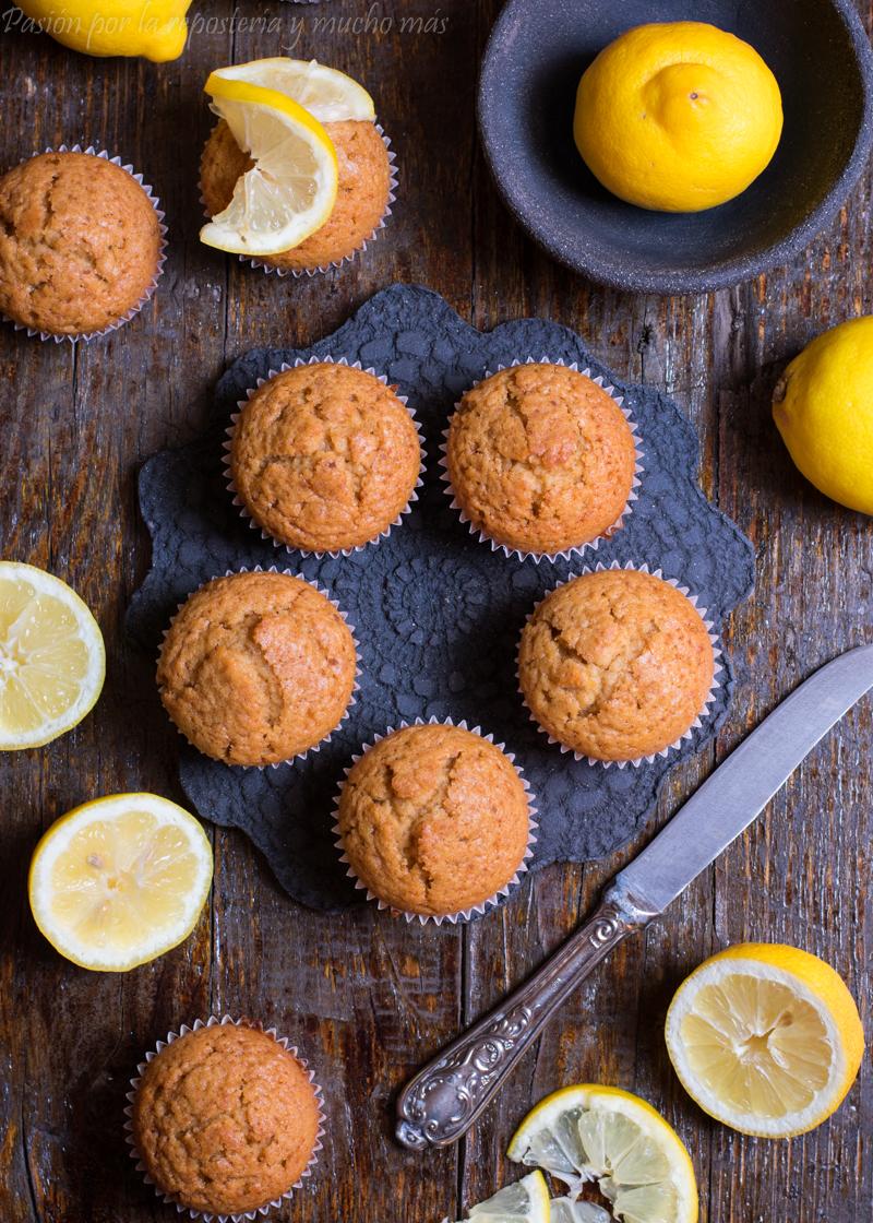 Magdalenas de limón y miel