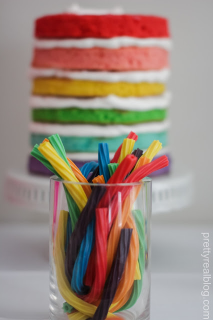 Rainbow twizzlers at a Rainbow party