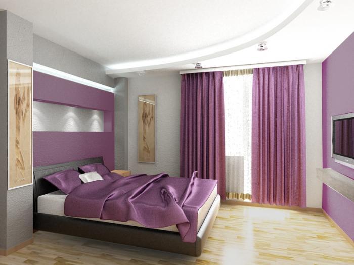 Muebles y decoraci n de interiores dormitorios de color lila - Decoracion interiores dormitorios ...