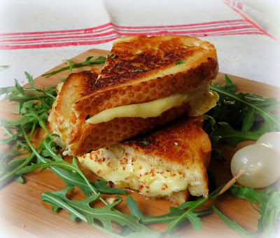 Classic Grilled Cheese with Marinated Onions