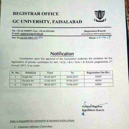 Student Photo Copy Shop Government College University Faisalabad