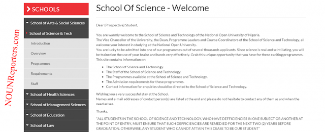 National Open University of Nigeria Sci and Tech Home