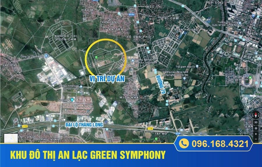 Vị Trí Khu Đô Thị An Lạc Green SymPhony