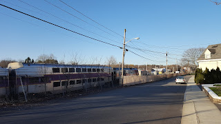 MBTA commuter rail heading to Forge Park