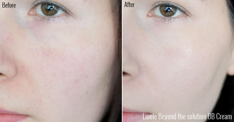 lioele beyond the solution bbcream review before & after