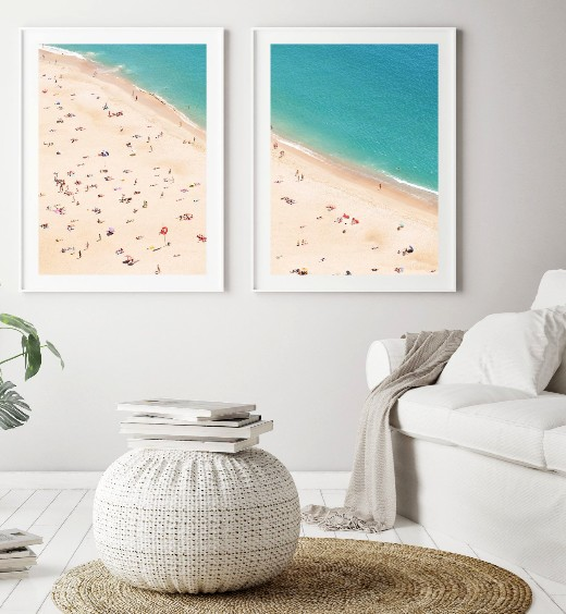 Aerial Beach Photographs Printable