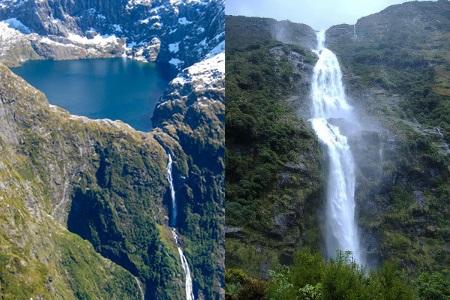 gambar air terjuan tertinggi Browne Falls 2-Selandia_baru