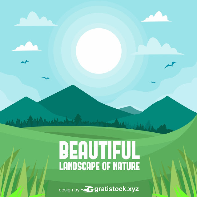Free Download PSD - Beautiful Landscape-of-Nature