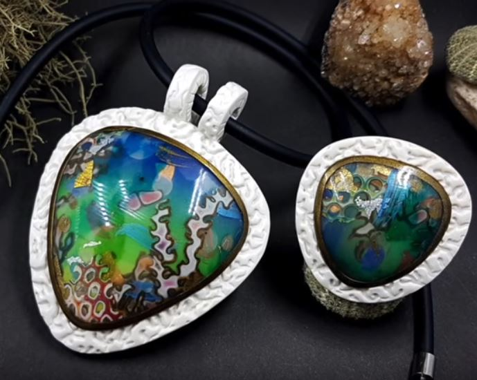How to make coral reef seascape polymer clay pendants the beading how to make coral reef seascape polymer clay pendants aloadofball Image collections