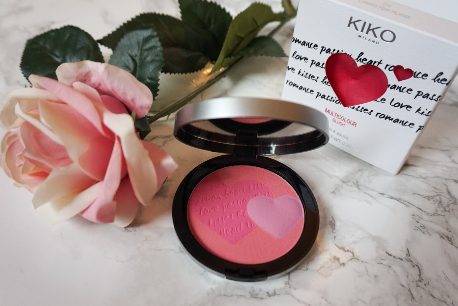 Kiko Milano multi colour blush in loving pink flame